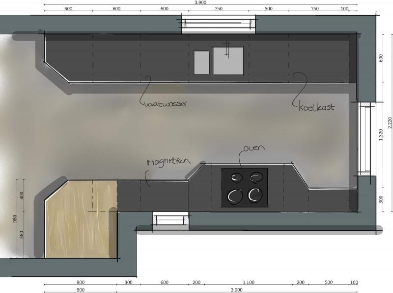Keuken plattegrond voorbeelden for 3d keuken tekenprogramma