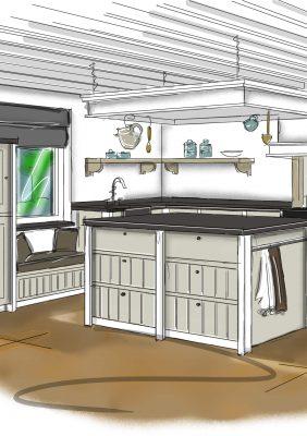 Elmi-jansen-keukenprobleem-landelijke keuken-3D keukenrendering